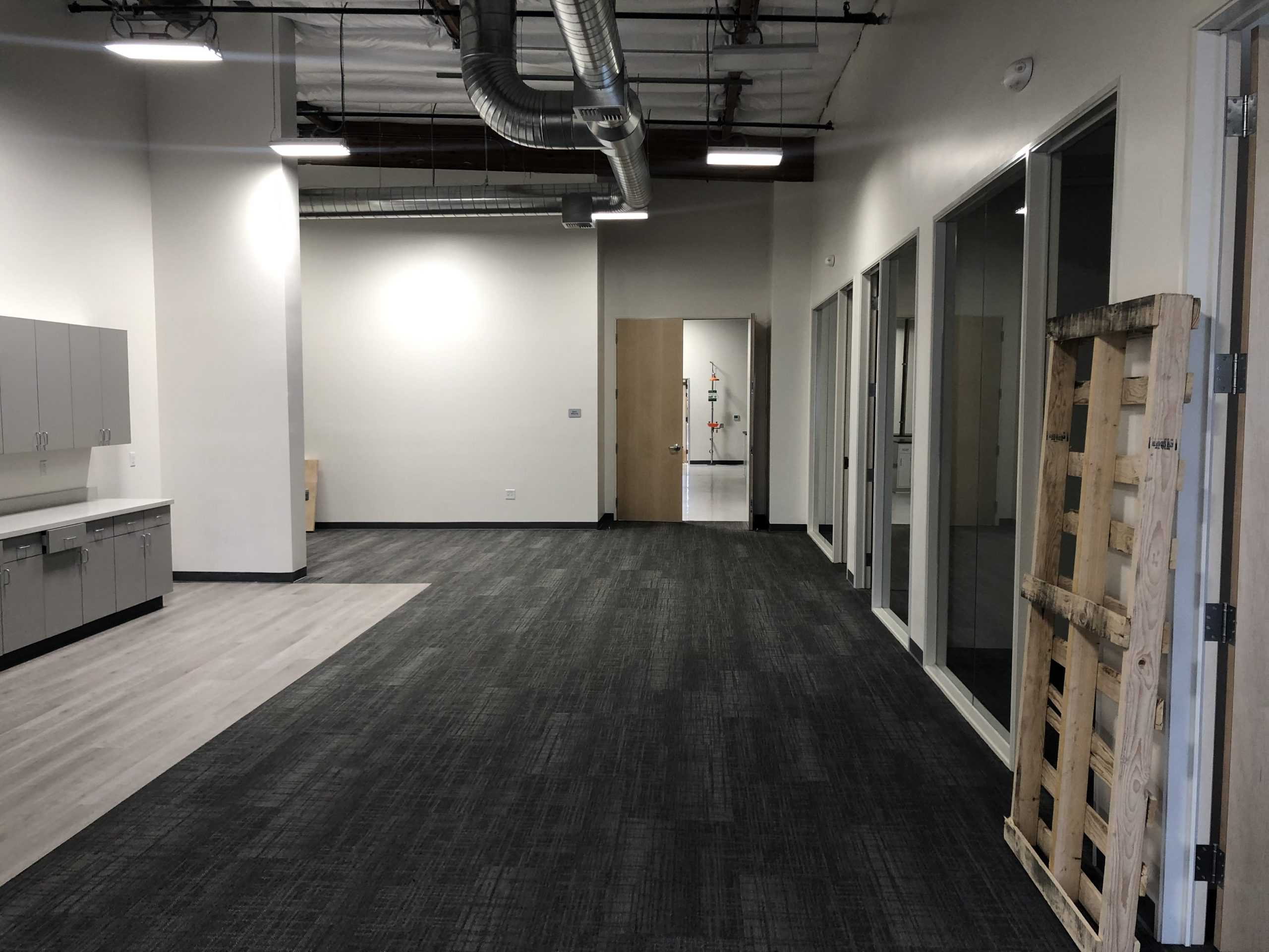 New flooring in new lab