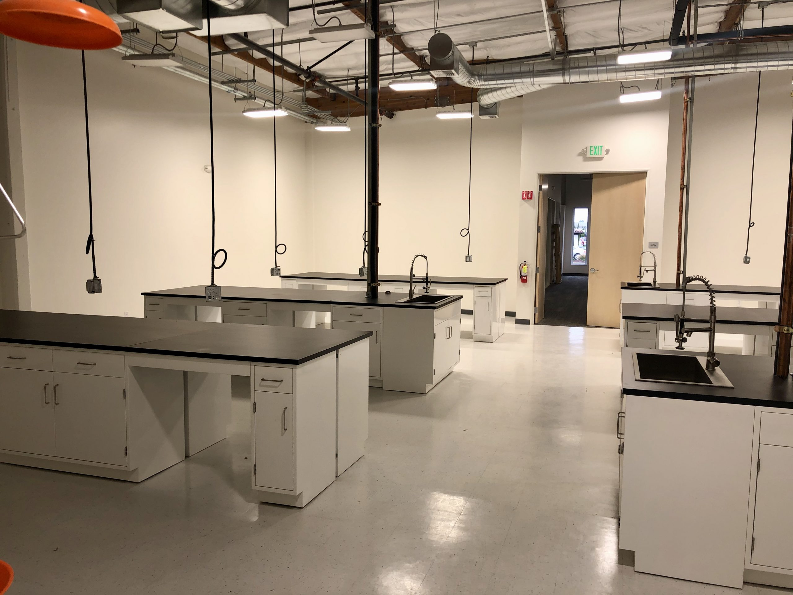 image of lab tables in new lab